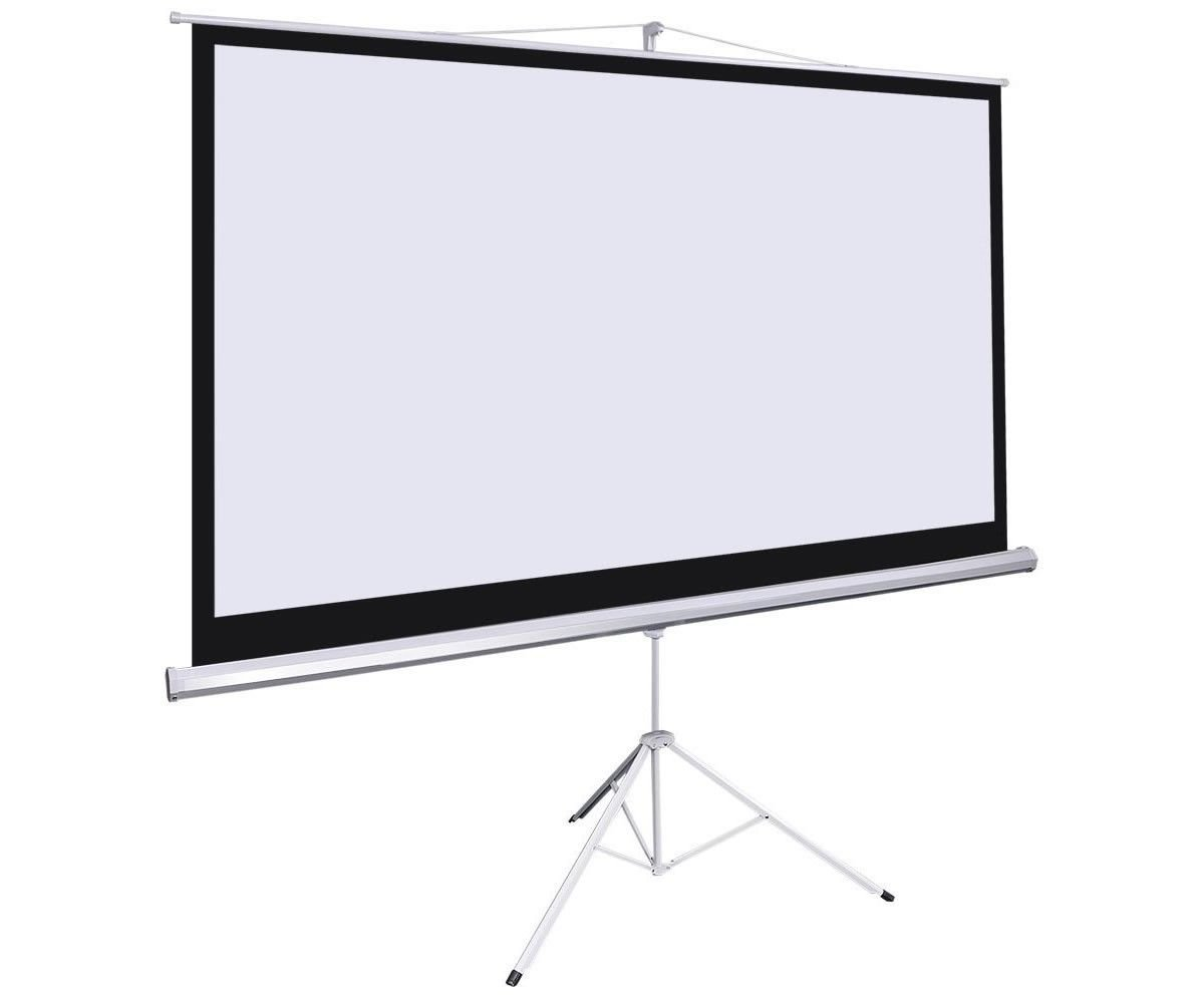"""Amazon.com: Giantex 100"""" 16:9 Manual Projection Screen Pull Down Tripod  Projector Matte White Stand: Office Products"""