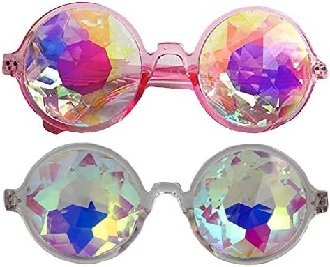 Festivals Kaleidoscope Glasses for Raves - Goggles Rainbow Prism Diffraction Crystal Lenses