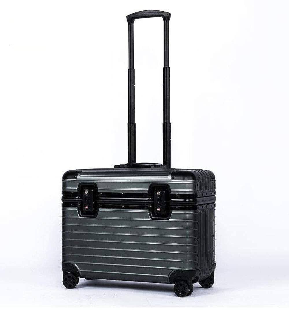 S-cas-028 新色 17/20/22インチ スーツケース ビジネスケース 旅行バッグ トランク アルミ製 キャリーケース B07Q4RHJ8S ライフルブラック 20インチ