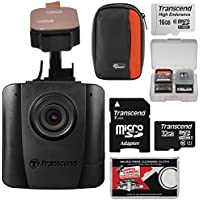 Transcend DrivePro 50 1080p HD Wi-Fi Car Dashboard Video Recorder with Adhesive Mount + 16GB & 32GB Cards + Case + Kit