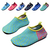 lewhosy Kids Boys and Girls Swim Water Shoes Quick Drying Barefoot Aqua Socks Shoes for Beach Pool Surfing Yoga(30/Green)