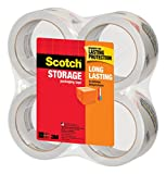 Scotch 3650-4 Long Lasting Storage Packaging Tape, 1.88 Inches x 54.6 Yards, 4 Rolls