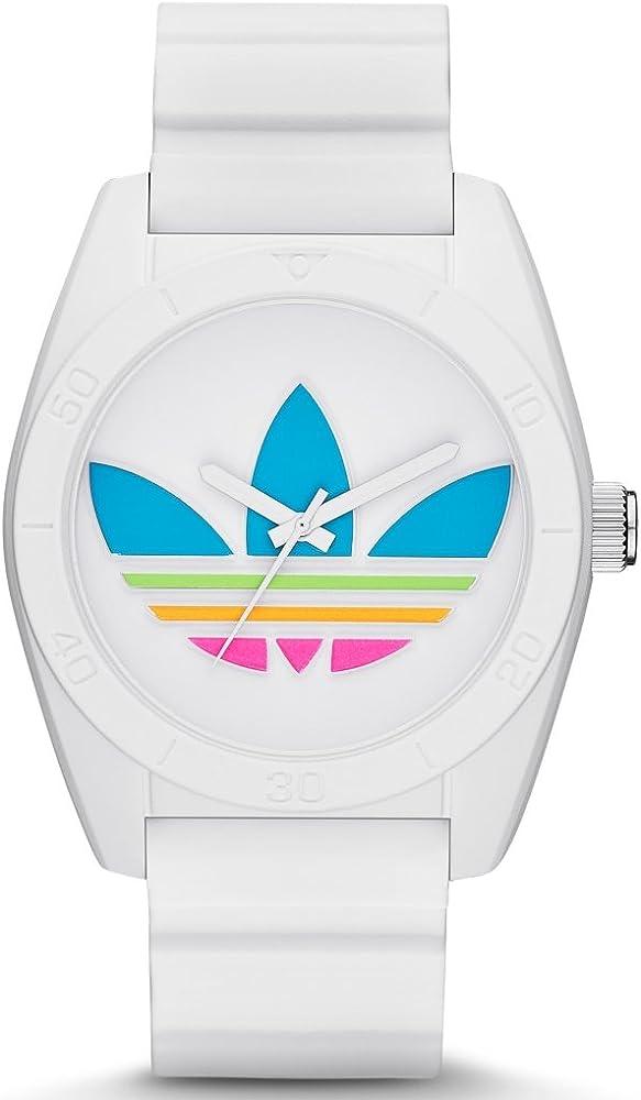 Reloj Adidas ADH2916 SANTIAGO Reloj para hombre de caucho-plástico, 5 bar, analógico, blanco: Amazon.es: Relojes