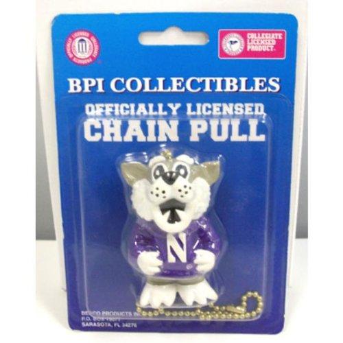 Pull Mascot (NCAA NORTHWESTERN WILDCATS BASKETBALL FOOTBALL SPORTS MASCOT FAN/LIGHT CHAIN PULL)