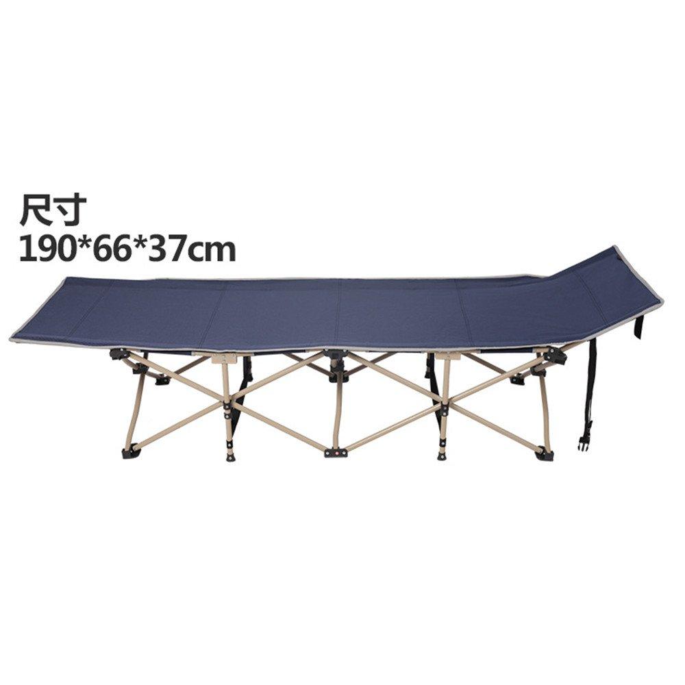 Zhengアウトドア折りたたみベッドポータブルアウトドアCamp Bed Single Escortベッド B074FY3G3V Single cyan Single cyan