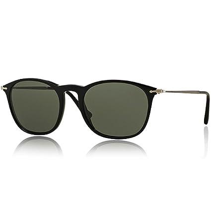 e87bf109b6a3c Amazon.com  Persol Mens Sunglasses (PO3124) Black Green Acetate - Polarized  - 50mm  Persol  Clothing
