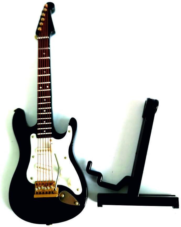 ALANO Mini Guitar Ornaments Miniature Musical Instrument Guitar Model Holiday Dollhouse Model Home Decoration (GE34B-14-S)