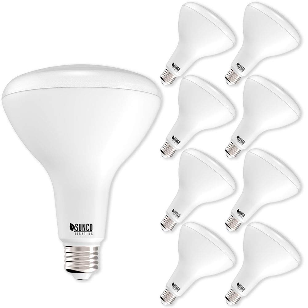 Sunco Lighting 8 Pack BR40 LED Bulb, 17W=100W, Dimmable, 2700K Soft White, E26 base, Flood Light for Home or Office Space - UL & Energy Star