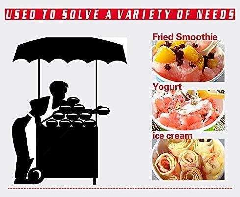 Yoli® pequeño frito Ice Cream máquina para fruta, leche ...