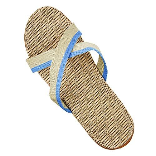 Uomini Ragazzi Casual Estate Pantofole Pantofole Morbida Piattaforma Antiscivolo Sandali Piatti Casa Scarpe Taglia 10-11 Blu
