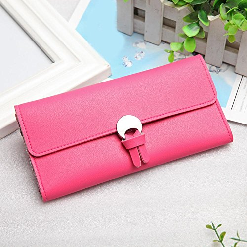 Purses Rose Long Leather Women Hasp Coin Domybest Money Holder Pockets Red Wallets Clutch PU pxnWPFRHF7