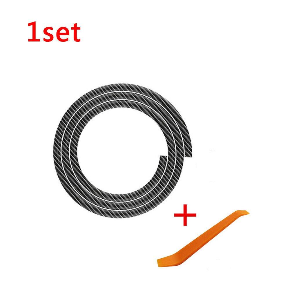 160cm Carbon Fiber  Car Dashboard Gap Filling Sealing Strip Rubber Universal
