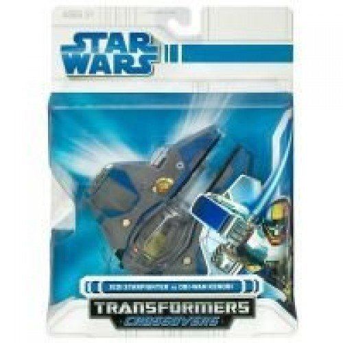 - Hasbro Star Wars Transformers Crossovers Jedi Starfighter to OBI-Wan Kenobi - Blue