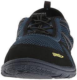 Speedo Men\'s Seaside Lace 5.0 Athletic Water Shoe, Insignia Blue/Black, 11 C/D US