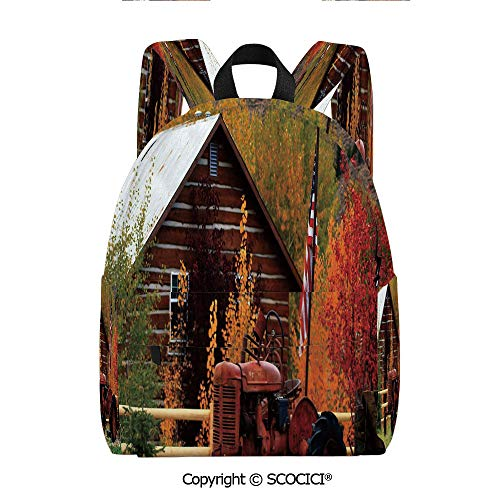 SCOCICI Cute Printed Leisure Backpack Student Bookbag(11.5