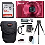 Canon PowerShot SX620 HS Digital Camera (Red) with 32GB Deluxe Bundle
