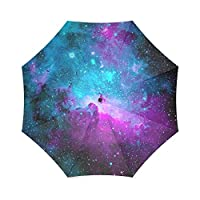 Custom Space Nebula Universe Galaxy Pattern Folding Rain Umbrella/Parasol/Sun Umbrella