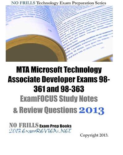 mta microsoft technology associate developer exams 98 361 and 98 363 rh amazon com Study Guide Clip Art mta 98 368 study guide