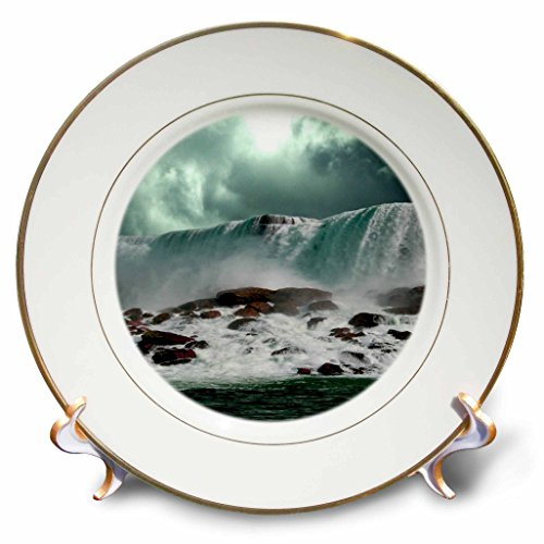 3dRose TDSwhite - Miscellaneous Photography - Travel Niagara Falls New York - 8 inch Porcelain Plate -