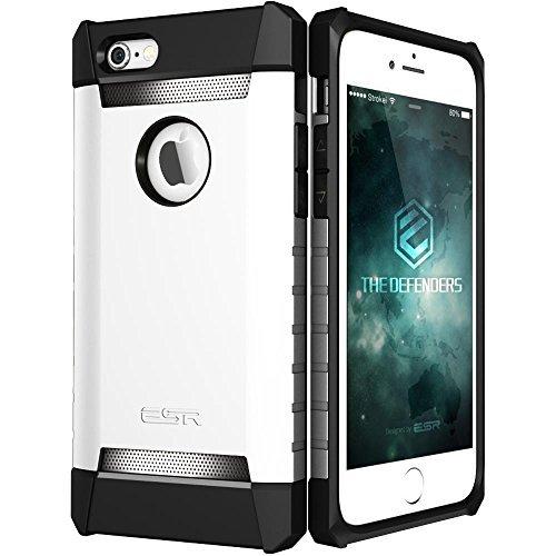 [해외]아이폰 6 플러스 / 6s 플러스 케이스, ESR 3 레이어 헤비 듀티 방습 케이스 [무료 스크린 수호자] [금속 디자인] [무광택 실리콘 백 + 두꺼운 TPU 부랑자/iPhone 6 Plus/6s Plus Case, ESR Three Layer Heavy Duty Shockproof Case [Free Screen Pro...
