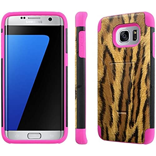 Samsung Galaxy S7 Edge / GS7 Edge [5.5 Screen]Case, [NakedShield] [Black/ Hot Pink] Armor Tough Shock Proof Kickstand Case - [Cheetha] for Sales