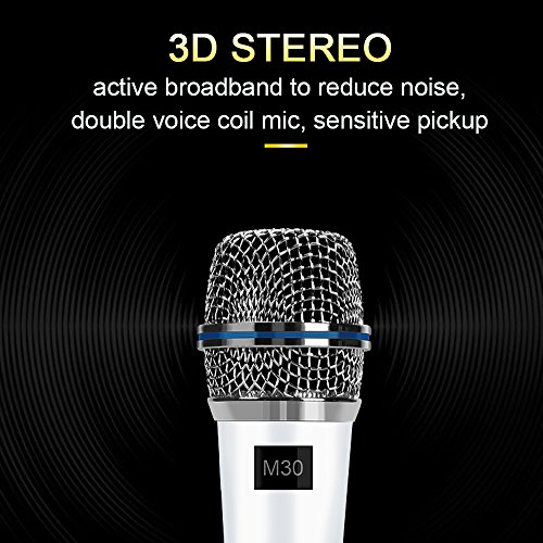 Professional Condenser Microphone Recording with Stand for PC Computer iphone Phone Android Ipad Podcasting, Online Chatting Mini Microphones by XIAOKOA (M30-White) by XIAOKOA (Image #1)