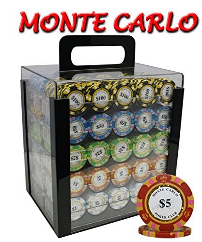 1000pcs 14 g B00WS4RHNE Monte Carlo Carlo Poker Clubポーカーチップセットwithアクリルケースカスタム構築 g B00WS4RHNE, KIKIYA ネックレス ジュエリー:e5bfed56 --- itxassou.fr