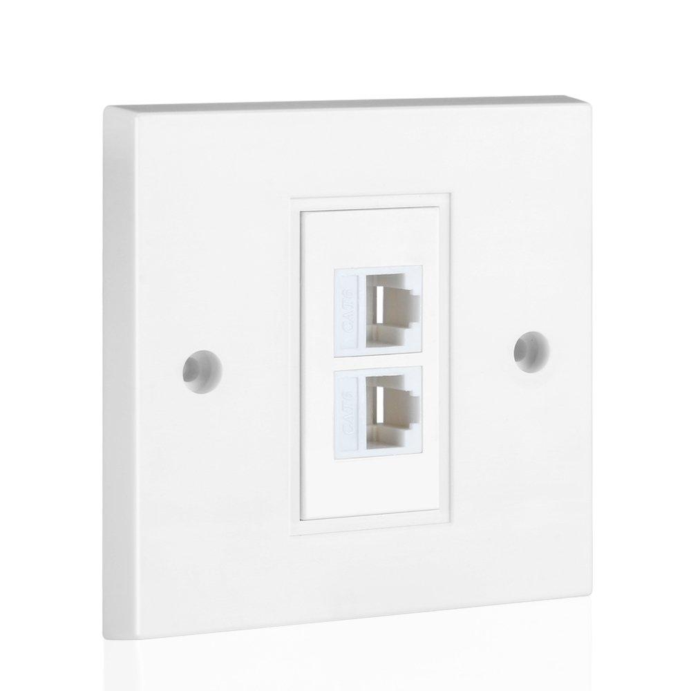 Tnp Ethernet Network Rj45 Faceplate Wall Wiring T568b Usoc Diagram Jack T568a Electronics