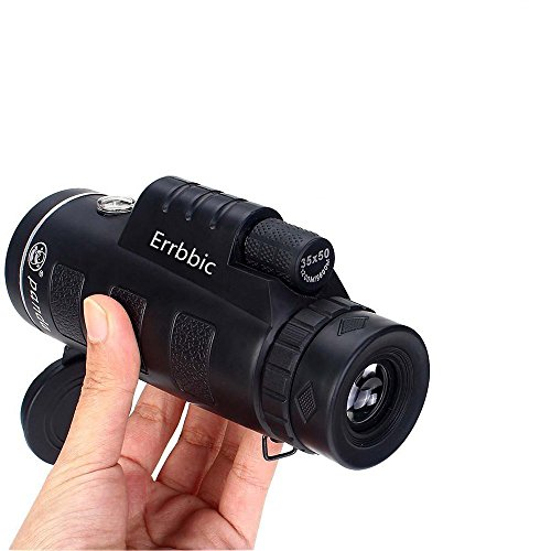 Monocular Telescope,XMK 35X50 Outdoor Portable High-powered Wide-angle Monoculars Zoom Lens Night Vision Travelling Telescope with Hand Strap for Hunting Camping Hiking