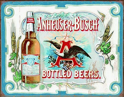 Desperate Enterprises Anheuser Busch - Bottled Beers Tin Sign, 16