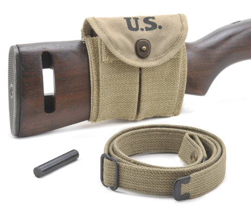 M1 Carbine Sling Oiler and Buttstock Type Pouch 1942 Dated Khaki