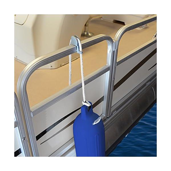 "Boat Adjustable Pontoon Fender Cleat Fits 1//4/""-3//8/"" lines Trip Easy Remove 2PACK"