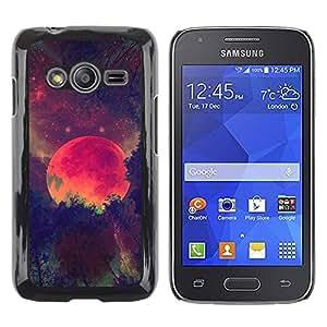 Paccase / SLIM PC / Aliminium Casa Carcasa Funda Case Cover para - Moon Winter Forest Painting Night - Samsung Galaxy Ace 4 G313 SM-G313F