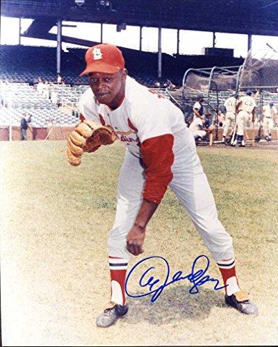 (Al Jackson Autographed/ Original Signed 8x10 Color Photo Showing Him w/ the St. Louis Cardinals)