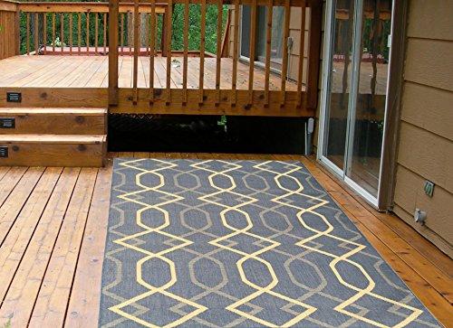 Cheap  Ottomanson Jardin Collection Natural Diamond Trellis Design Indoor/Outdoor Jute Backing Area Rug..
