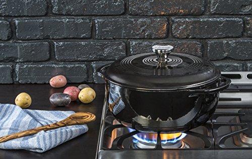 Lodge Manufacturing Company EC6D18 Enameled Dutch Oven 6 qt Midnight Chrome