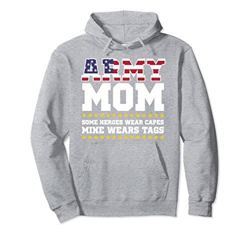Proud Mom Sweatshirt - Unisex Proud Army Mom Hoodie Military Mom Hoody My Hero Womens Large Heather Grey