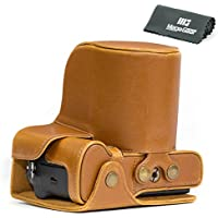 MegaGear Ever Ready Leather Camera Case - Easy to Install, Tripod and Peripheral Friendly Accessory - Compatible with Fujifilm X-T2 with 18-55MM Lens