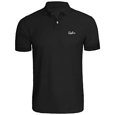 Mens Dallas Vector Design Embroidery Embroidered Polo Shirts At