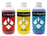 Calibration Solution Test Kit pH 4.0, 7.0 & 10.0 - For Precise pH Indicator For Hydroponics, Food Processing, Aquariums, Pools - Calibrate pH Meters & Use With pH Probe - Pack of 3 (8oz Bottles)