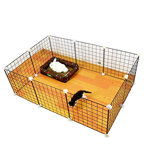 Aida Bz DIY Cube Modular Pet Dog Fence Collapsible Small Dog Bunny Play Pen Multi-Function Dog Fence Total 6pcs,3535cm