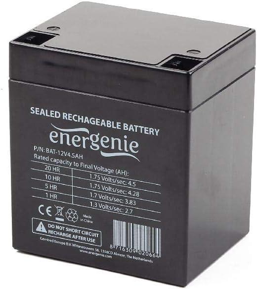 Gembird BAT-12V4.5AH 4500mAh 12V batería recargable - Batería/Pila recargable (4500 mAh, 12 V, Negro, 1 pieza(s))