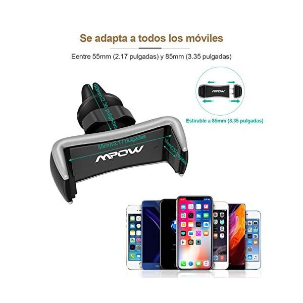 Mpow Supporto auto per telefono con fissaggio alle griglie di aerazione, Supporto auto universale alla griglia di… 3 spesavip