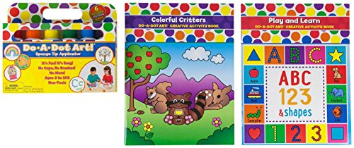 Do-A-Dot 6 Pack Rainbow Markers, Play & Learn ABC Activity Book, Colorful Critters Children's Craft