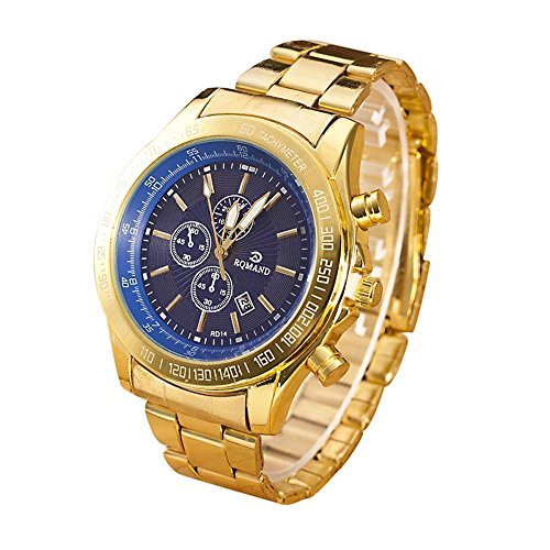 Bokeley Luxury Men's Wrist Watch - Stainless Steel Band - Chronograph Watch - Japanese Quartz Movement ()