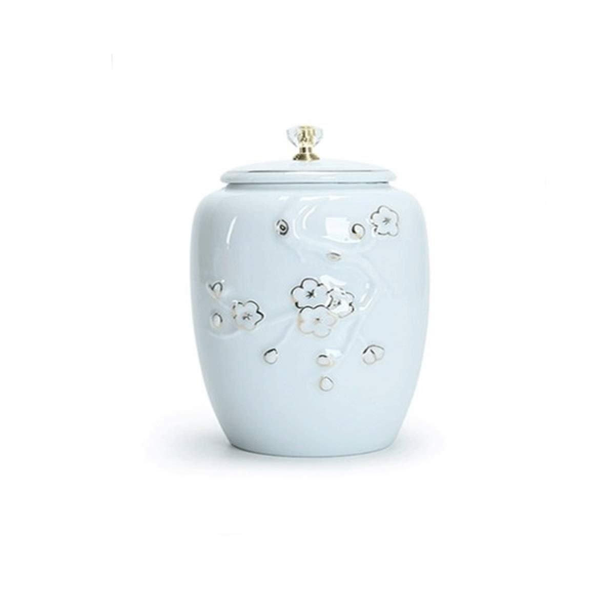 Fu word style Pet Casket, Cremation, golden Retriever Dog Large Dog Rabbit Death Supplies, Funeral Home Urn Jar, Ceramic, Pet Supplies (Style   Tree Branch Style)