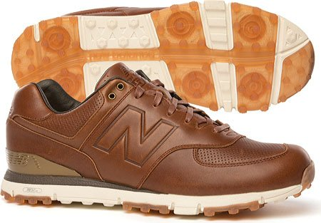 New Balance Men's NBG574LX Golf Shoe, Brown, 8 4E US