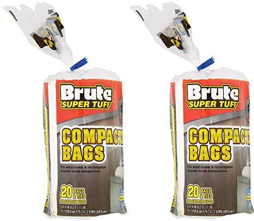 (2 Pack) Brute Super Tuff Heavy Duty 20 Gallon Size Compactor/kitchen Bags - ()