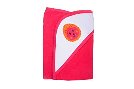 Quick Dry Hooded Medium Size Reversible Terry Towel (Rose Red)
