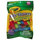 GUM Crayola Kids' Flossers 40 Each (Pack of 9)